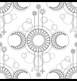 seamless pattern from triple moon magic vector image vector image