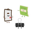 set of funny characters from notebook tablet vector image vector image