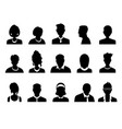 set of men and women with business avatar vector image