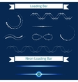 Set of modern loading bars on a dark background vector image