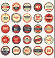 set retro vintage badges 2 vector image vector image