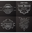 set vintage emblem with space for text vector image