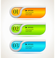 shine horizontal options banners or buttons vector image vector image