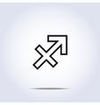 simplistic sagittarius star sign vector image