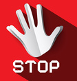 Stop Sign Palm Hand with Stop Title Stop Symbol vector image