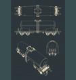 tank wagon drawings vector image vector image