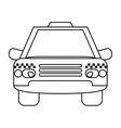 taxi cab car public transport outline vector image vector image
