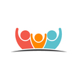 Teamwork Three Friends image vector image vector image