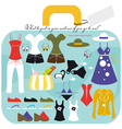 The case of sea holidays vector image vector image