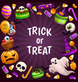 trick or treat background spooky halloween vector image