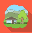 vacation homerealtor single icon in flat style vector image vector image