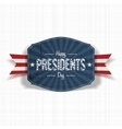 Vintage blue Label with Happy Presidents Day Text vector image vector image