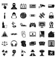 virus icons set simple style vector image vector image
