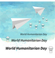 world humanitarian day vector image