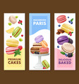 macaroons vertical banners set vector image