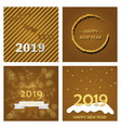 2019 happy new year background for your seasonal vector image vector image