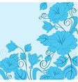 abstract flower background with decoration element vector image vector image