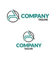alphabet logo design for business company vector image vector image