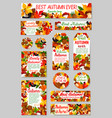 Autumn nature tag and label set for sale design
