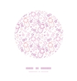 Baby girls circle decor frame pattern background vector image