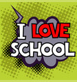 back to school in comic speech bubbles vector image vector image