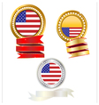 banner gold and silver flag american vector image