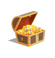 beautiful treasure chest card vector image