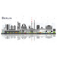 berlin germany city skyline with gray buildings vector image vector image