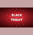black friday sale banner dark red background vector image vector image