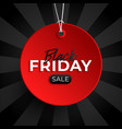 black friday sale tag red circle banner vector image