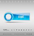 Blue Plastic Button vector image vector image