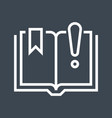 book with exclamation point vector image