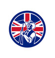 british organic farmer union jack flag icon vector image vector image