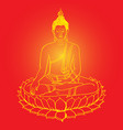 buddha statue vector image vector image