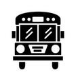 bus glyph black icon vector image vector image