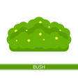bush with flowers icon vector image