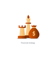 Business strategy icon budget management vector image