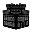 castle black isometric drawing vector image