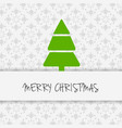 christmas tree with pattern background light vector image