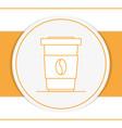 coffee to go round icon vector image