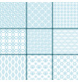 collection of blue seamless patterns vector image vector image