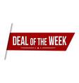 deal week banner design vector image vector image