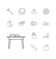 eat icons vector image vector image