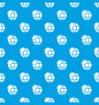 ecology earth globe pattern seamless blue vector image vector image