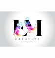 em vibrant creative leter logo design vector image vector image