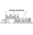 england nottingham architecture line skyline vector image vector image