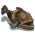 fangtooth fish in style steam punk isolated vector image vector image