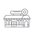 fast food cafe building thin line icon concept vector image vector image