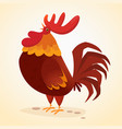 fat cartoon rooster vector image vector image