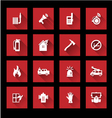 Fire services icons vector image vector image